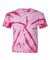 Dyenomite 20BTT Youth Tone-on-Tone Pinwheel Short Sleeve T-Shirt Pink
