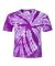 Dyenomite 20BTT Youth Tone-on-Tone Pinwheel Short Sleeve T-Shirt Purple