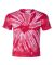 Dyenomite 20BTT Youth Tone-on-Tone Pinwheel Short Sleeve T-Shirt Red