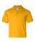 8800B Gildan Youth 5.6 oz. Ultra Blend® 50/50 Jersey Polo GOLD