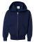 P480 Hanes® PrintPro®XP™ Comfortblend® Youth Hooded Full Zip Sweatshirt Navy