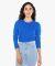 American Apparel 23337W Ladies' Fine Jersey Classic Long-Sleeve T-Shirt ROYAL BLUE