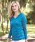 8254 J. America - Women's Jersey Burnout Hooded Pullover T-Shirt