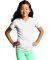 LAT 2607 Girls' V-Neck Fine Jersey T-Shirt WHITE