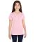 LAT 2607 Girls' V-Neck Fine Jersey T-Shirt PINK