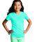 LAT 2607 Girls' V-Neck Fine Jersey T-Shirt AQUA