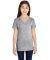 LAT 2607 Girls' V-Neck Fine Jersey T-Shirt HEATHER