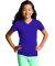 LAT 2607 Girls' V-Neck Fine Jersey T-Shirt PURPLE