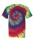 69 Dyenomite Tie-Dye Adult Neon Pigment-Dyed Spiral Tee 200MS Classic Rainbow Spiral
