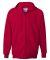F280 Hanes® PrintPro®XP™ Ultimate Cotton® Full Zip Hooded Sweatshirt Deep Red