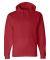 J America 8824 Premium Hooded Sweatshirt Red