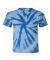 Dyenomite 20BTT Youth Tone-on-Tone Pinwheel Short Sleeve T-Shirt Royal