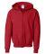 G186B Gildan Youth 7.75 oz. Heavy Blend™ 50/50 Full-Zip Hood RED