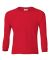 2400B  Gildan Youth 6.1 oz. Ultra Cotton® Long-Sleeve T-Shirt RED
