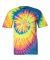 69 Dyenomite Tie-Dye Adult Neon Pigment-Dyed Spiral Tee 200MS Fluorescent Rainbow Swirl