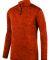 Augusta Sportswear 2955 Intensify Black Heather Quarter-Zip Pullover Orange