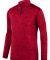 Augusta Sportswear 2955 Intensify Black Heather Quarter-Zip Pullover Red