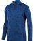 Augusta Sportswear 2955 Intensify Black Heather Quarter-Zip Pullover Royal