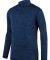 Augusta Sportswear 2955 Intensify Black Heather Quarter-Zip Pullover Navy