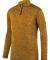 Augusta Sportswear 2955 Intensify Black Heather Quarter-Zip Pullover Gold