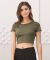 BELLA 6681 Womens Poly-Cotton Crop Top