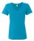 392 Anvil Ladies' Sheer V-Neck T-Shirt Caribbean Blue