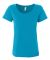 391 Anvil Ladies' Sheer Scoop-Neck Tee Caribbean Blue