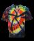 60B Dyenomite Tie-Dye Youth Rainbow Cut Spiral Tee Black Rainbow Cut-Spiral