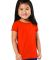3316 Rabbit Skins® Toddler Girls Fine Jersey T-Shirt ORANGE