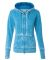 J America 8913 Women's Zen Fleece Full-Zip Hooded Sweatshirt Oceanberry