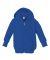 3446 Rabbit Skins Infant Zipper Hooded Sweatshirt ROYAL