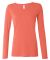 399 ANVIL LADIES SCOOP NECK L/S T Coral