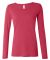 399 ANVIL LADIES SCOOP NECK L/S T Raspberry