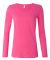 399 ANVIL LADIES SCOOP NECK L/S T Hot Pink
