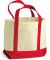 8867 UltraClub Seaside Canvas Boat Tote