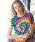 Dyenomite 150MS Women's 30s Ringspun Multi Pinwheel Tee