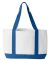 7002 UltraClub® Polyester Boat Tote WHITE/ ROYAL