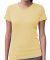 3507 LA T Ladies V-Neck Longer Length T-Shirt BUTTER