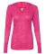 8254 J. America - Women's Jersey Burnout Hooded Pullover T-Shirt Wildberry