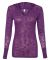 8254 J. America - Women's Jersey Burnout Hooded Pullover T-Shirt Very Berry