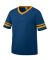 Augusta Sportswear 361 Youth V-Neck Football Tee Navy/ Gold