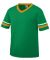 Augusta Sportswear 361 Youth V-Neck Football Tee Kelly/ Gold/ White