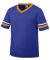 Augusta Sportswear 361 Youth V-Neck Football Tee Purple/ Gold/ White