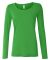 399 ANVIL LADIES SCOOP NECK L/S T Green Apple