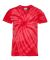 Dyenomite 20BCY Youth Cyclone Vat-Dyed Pinwheel Short Sleeve T-Shirt Red