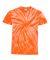 Dyenomite 20BCY Youth Cyclone Vat-Dyed Pinwheel Short Sleeve T-Shirt Orange