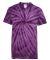 Dyenomite 20BCY Youth Cyclone Vat-Dyed Pinwheel Short Sleeve T-Shirt Purple