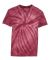 Dyenomite 20BCY Youth Cyclone Vat-Dyed Pinwheel Short Sleeve T-Shirt Maroon