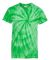 Dyenomite 20BCY Youth Cyclone Vat-Dyed Pinwheel Short Sleeve T-Shirt Kelly