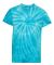 Dyenomite 20BCY Youth Cyclone Vat-Dyed Pinwheel Short Sleeve T-Shirt Turquoise